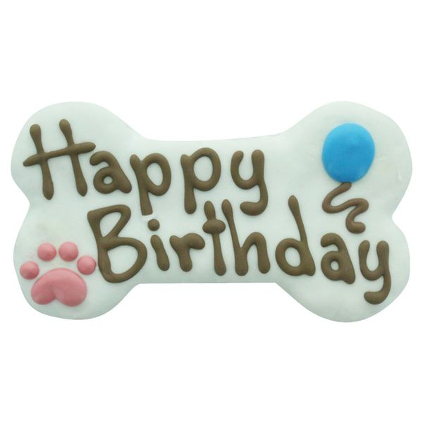 6in Happy Birthday Gourmet Cookie Bone by Bosco & Roxy's
