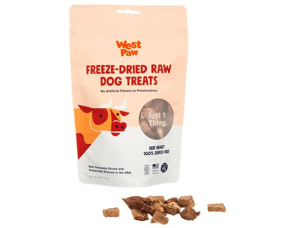 100% American Grass-fed Beef Hearts Freeze Dried Raw Treats by West Paw, Inc.