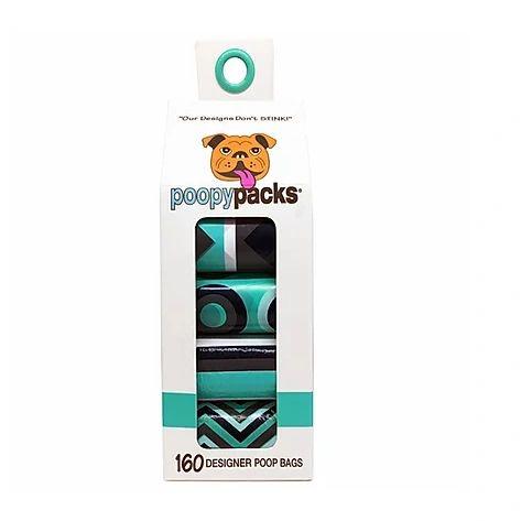 160 ct Designer Poop Bags by Metro Paws