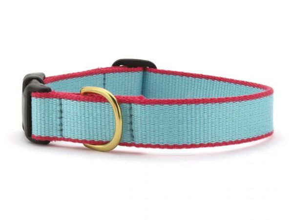 Aqua & Coral Bamboo Dog Collars & Lead by Up Country Inc