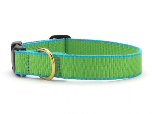 Lime & Aqua Bamboo Dog Collars & Lead by Up Country Inc