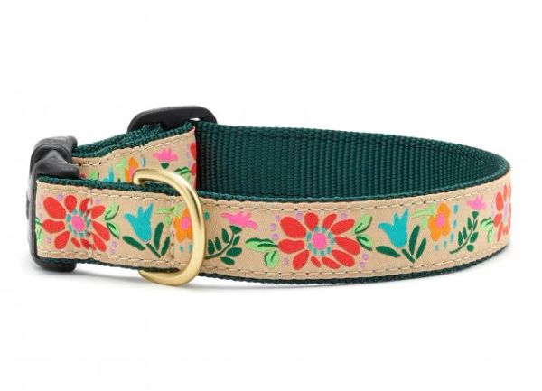 Tapestry Floral Martingale Dog Collars & Lead by Up Country Inc