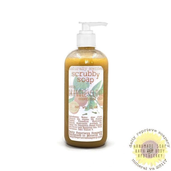 Orange Clove Liquid Scrubby Soap (12 oz)