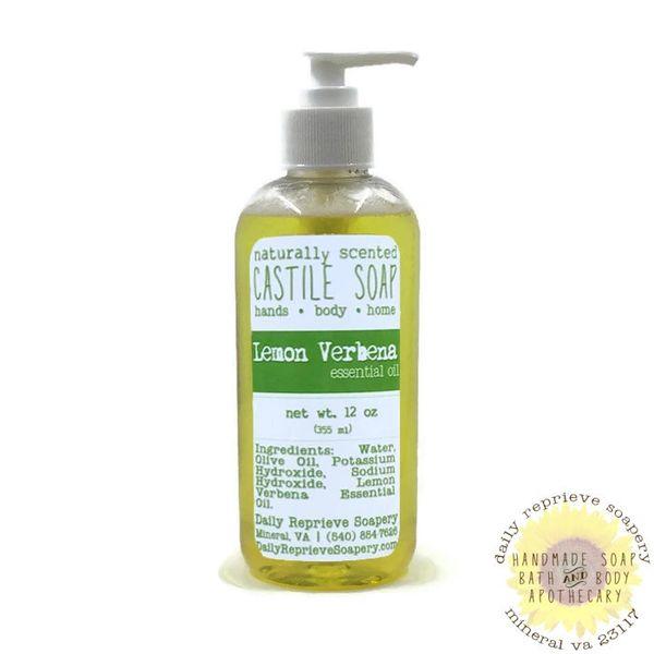Lemon Verbena Castile Soap (12 oz)