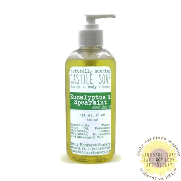 Eucalyptus & Spearmint Castile Soap (12 oz)