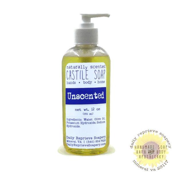 Unscented Castile Soap (12 oz)