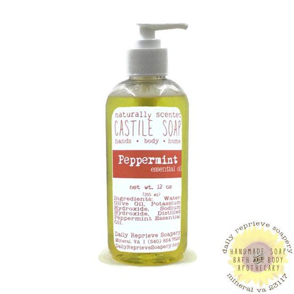 Peppermint Castile Soap (12 oz)