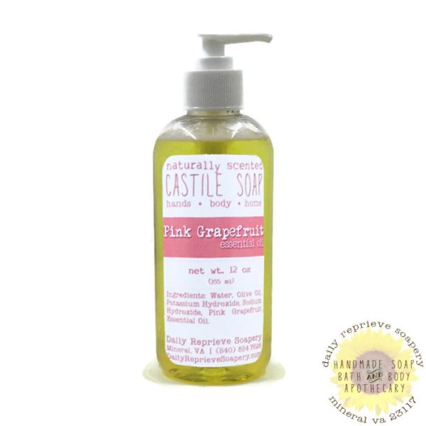 Pink Grapefruit Castile Soap (12 oz)