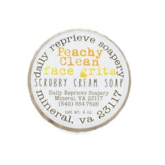 Peachy Clean Face Grits