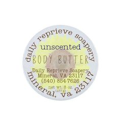 Sunflower Signature (unscented) Body Butter (8 oz)