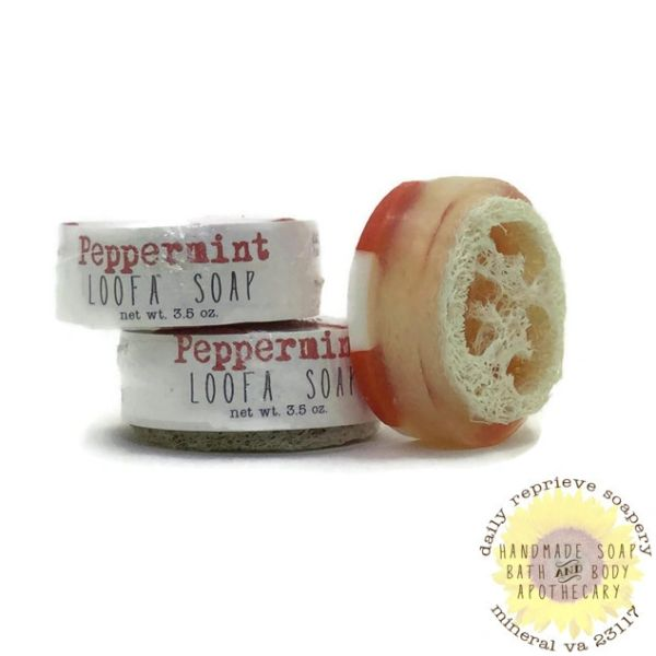 Peppermint Luffa Soap