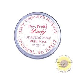 "Lady's Shaving Soap ""Wild Rose"""