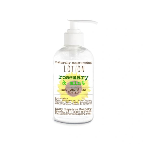 Rosemary & Mint Hand and Body Lotion (8 oz)