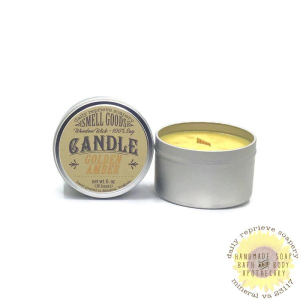Golden Amber Candle