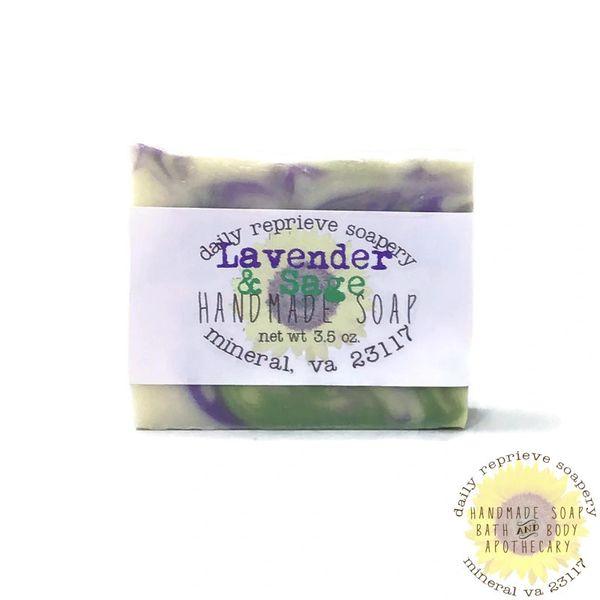 Lavender & Sage Goat Milk Soap