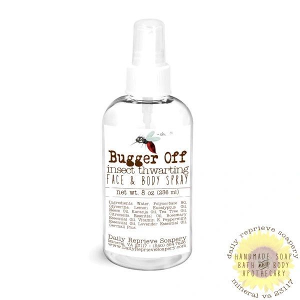 Bugger Off Insect Thwarting Face and Body Spray (8 oz)
