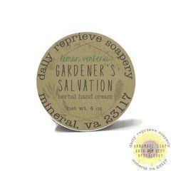 Gardener's Salvation Balm - Lemon Verbena (4 oz)