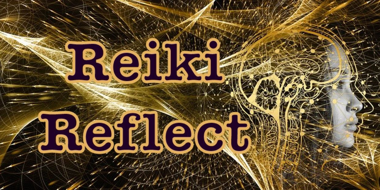 Reiki Reflect Logo Quantum Physics patrials of a human mind
