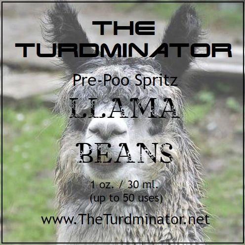 Llama Beans - The Turdminator pre-poo spritz