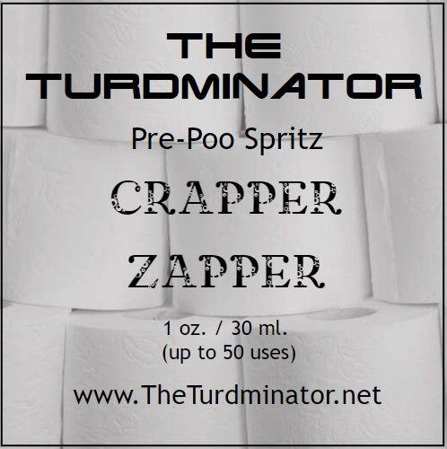 Crapper Zapper - The Turdminator pre-poo spritz