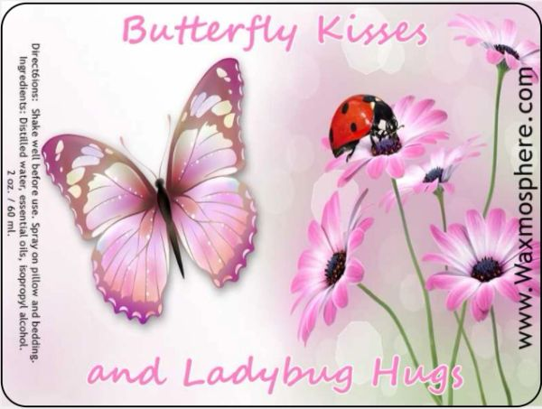 Butterfly Kisses and Ladybug Hugs - children's sleepy time spray for pillow & linens