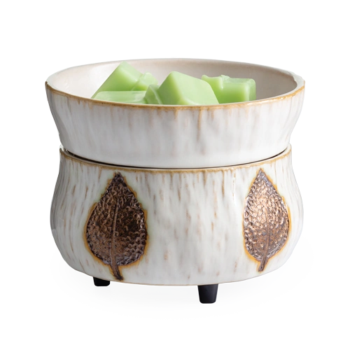 Bronze Leaf Wax Warmer (2-in-1)