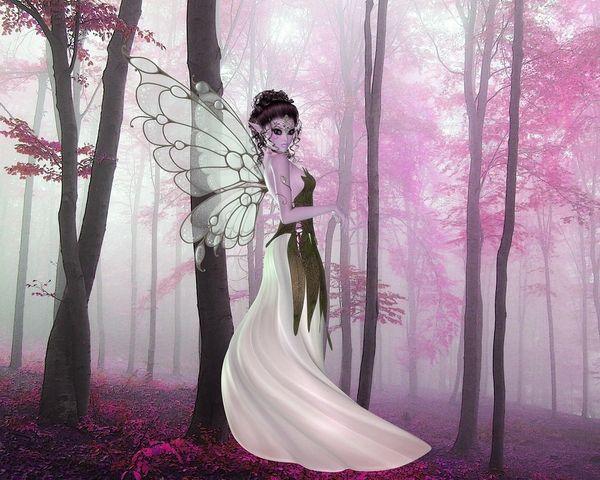 Pink Fairy Wings**