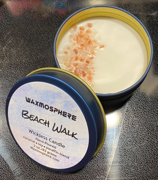"Beach Walking (PLTM) ""wickless"" candle"