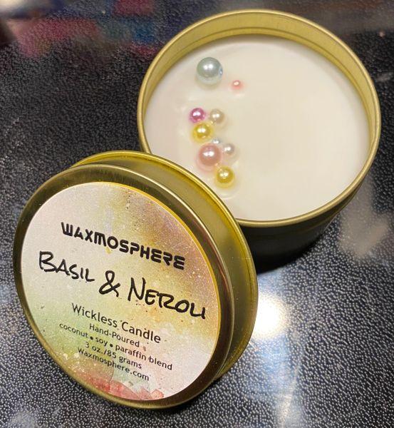 "Basilico & Neroli (PLTM) ""wickless"" candle"