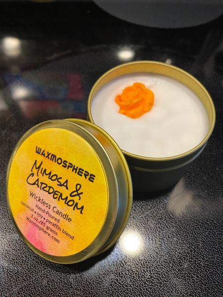 """Mimosa & Cardamom (PLTM)""""wickless"""" candle"""