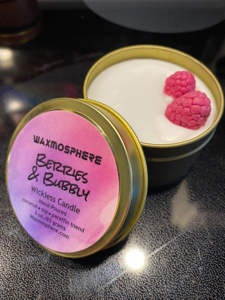 """Berries & Bubbly """"wickless"""" candle"""
