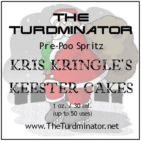 Kris Kringle's Keester Cakes - The Turdminator pre-poo spritz