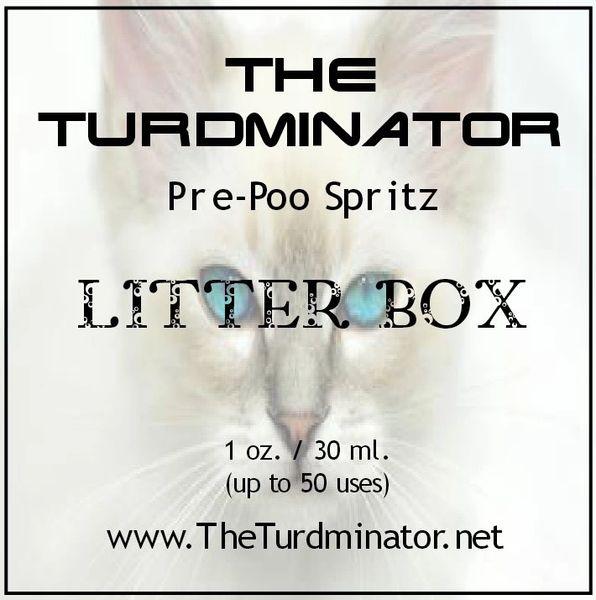 Litter Box - The Turdminator pre-poo spritz