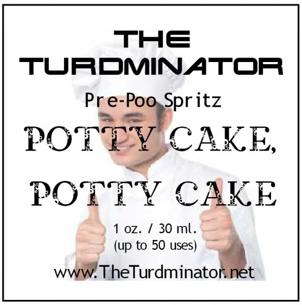 Potty Cake, Potty Cake - The Turdminator pre-poo spritz