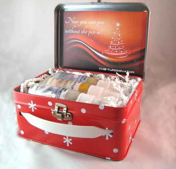 6 - pack HOLIDAY BOX - The Turdminator - pre-poo spritz. Now you can poo, without the pee-u!