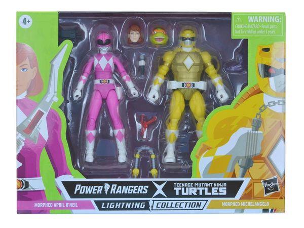 *PRE-SALE* Power Rangers X Teenage Mutant Ninja Turtles Lightning Collection Morphed April O'Neil & Morphed Michelangelo Action Figure 2-Pack