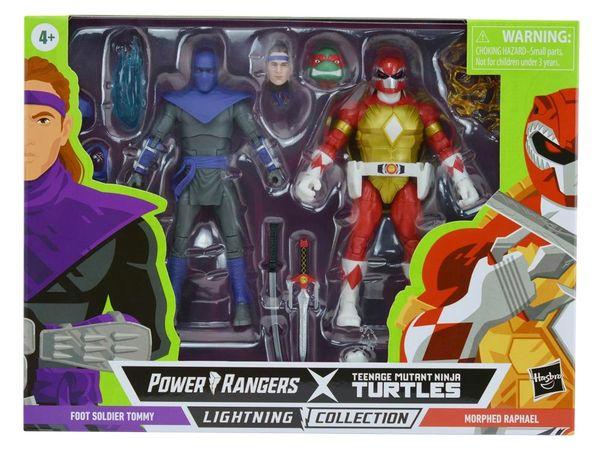 *PRE-SALE* Power Rangers X Teenage Mutant Ninja Turtles Lightning Collection Morphed Raphael & Foot Soldier Tommy Action Figure 2-Pack