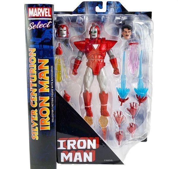 Marvel Select Silver Centurion Armor Iron Man Action Figure