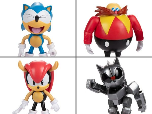 """Sonic The Hedgehog 30th Anniversary 4"""" Figures Wave 5 Set of 4 Figures"""