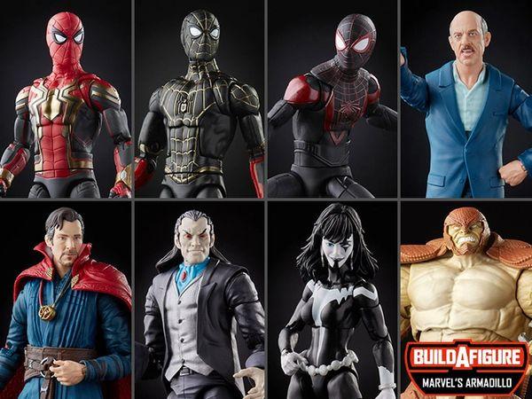 *PRE-SALE* Spider-Man Marvel Legends Wave 13 Set of 7 Figures (Marvel's Armadillo BAF)