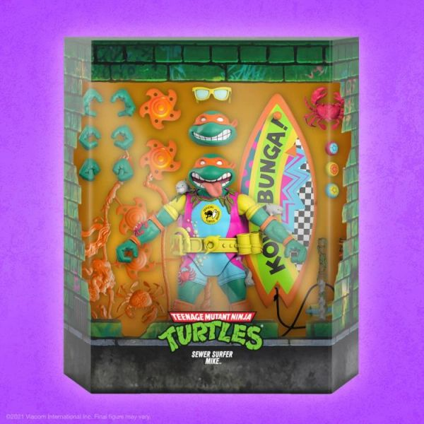 *PRE-SALE* TMNT Ultimates Sewer Surfin' Mike Action Figure