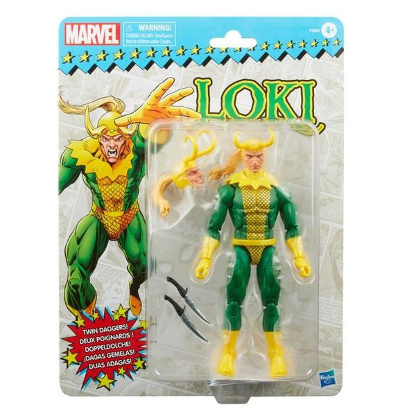 *PRE-SALE* Marvel Legends Avengers Spider-Man Retro Collection Loki Action Figure