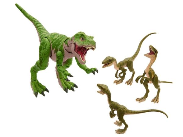 Jurassic Park: The Lost World Park Amber Collection Juvenile T. Rex and Compys Action Figure Set
