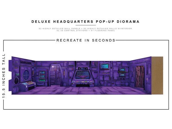 *PRE-SALE* Extreme Sets Diorama Deluxe Headquarters 1/12 Scale Pop-Up Diorama