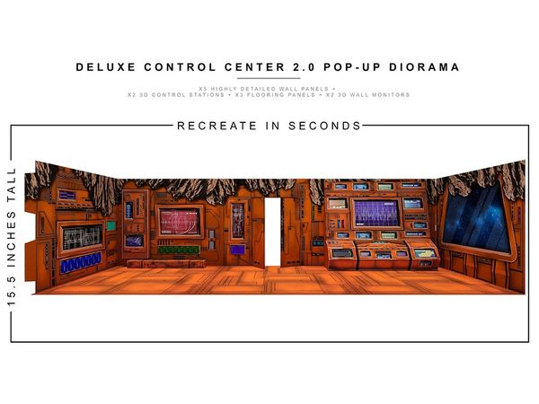 *PRE-SALE* Extreme Sets Deluxe Control Center 2.0 1/12 Scale Pop-Up Diorama