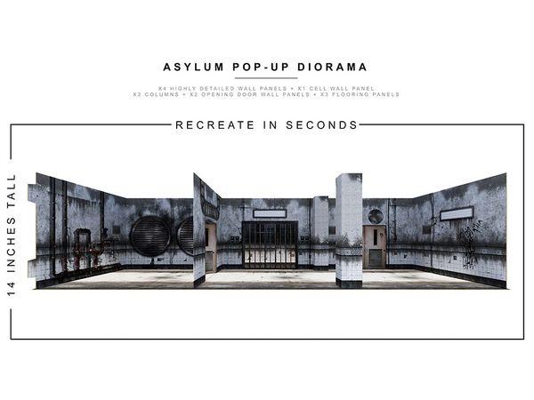 *PRE-SALE* Extreme Sets Asylum 1/12 Scale Pop-Up Diorama