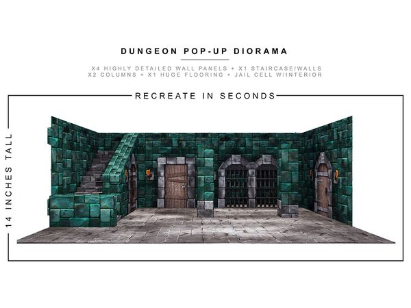 *PRE-SALE* Extreme Sets Dungeon 1/12 Scale Pop-Up Diorama