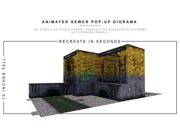 *PRE-SALE* Extreme Sets Animated Sewer 1/12 Scale Pop-Up Diorama