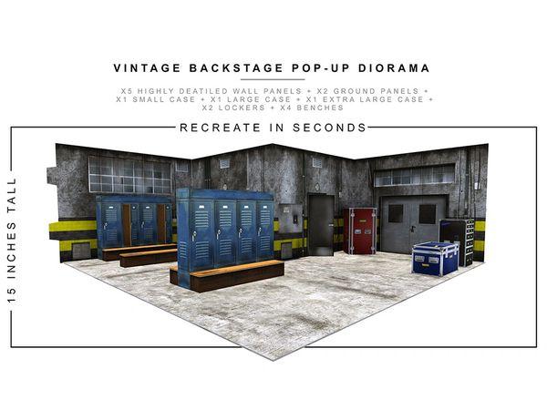 *PRE-SALE* Extreme Sets Vintage Backstage 1/12 Scale Pop-Up Diorama