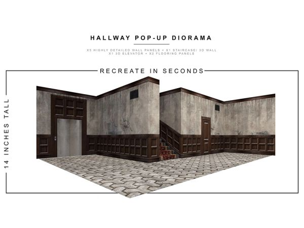 *PRE-SALE* Extreme Sets Hallway 1/12 Scale Pop-Up Diorama